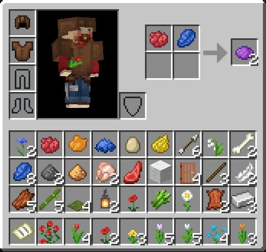 How To Make A Purple Dye In Minecraft Using Red Dye And Lapis Lazuli