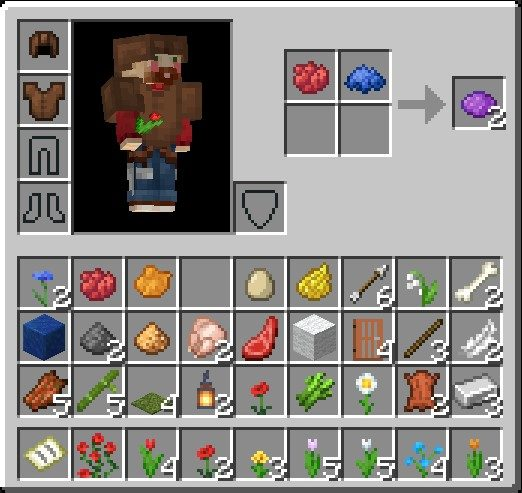 How To Make A Purple Dye In Minecraft Using Red And Blue Dye