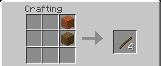 Stick Recipe Minecraft With Different Kind Of Wood