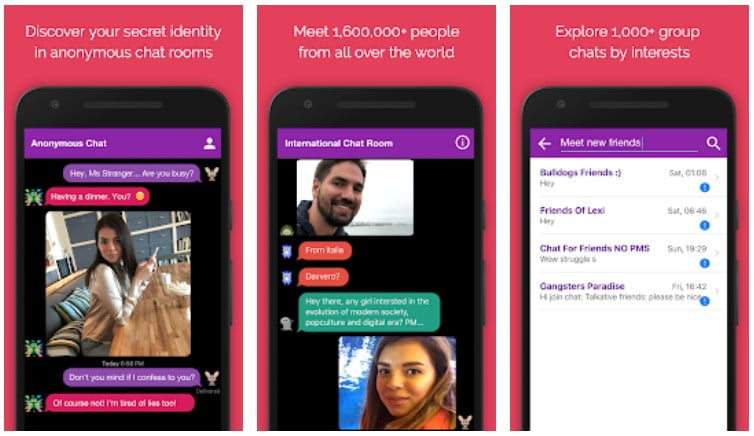 Anonymous Chat Rooms By Antiland
