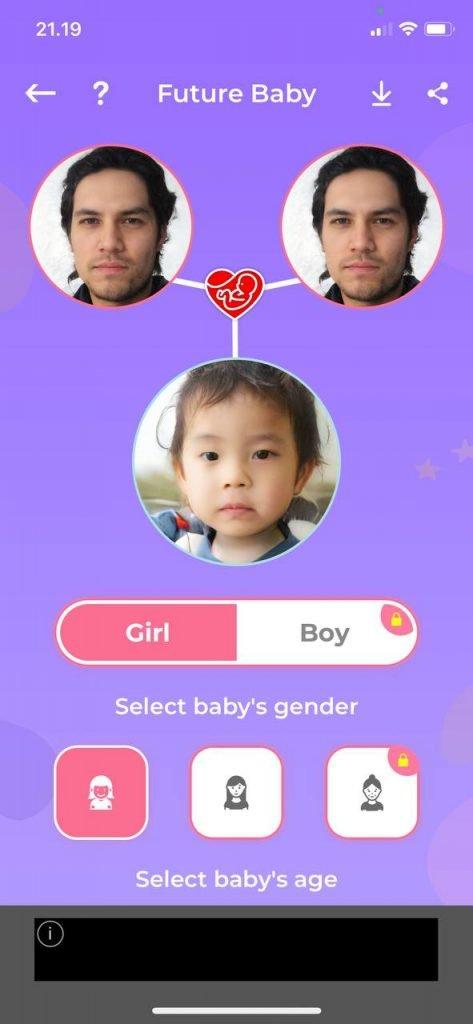 Baby Face Generator Result