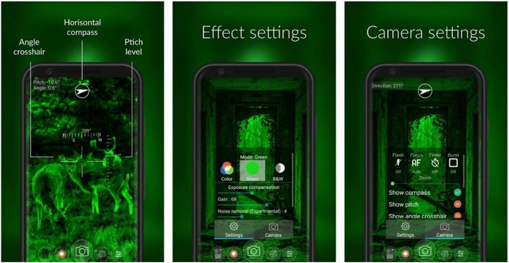 Color Night Vision Camera App Android