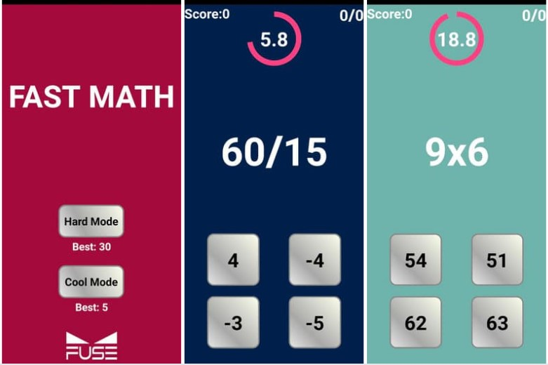Fast Math Android Game