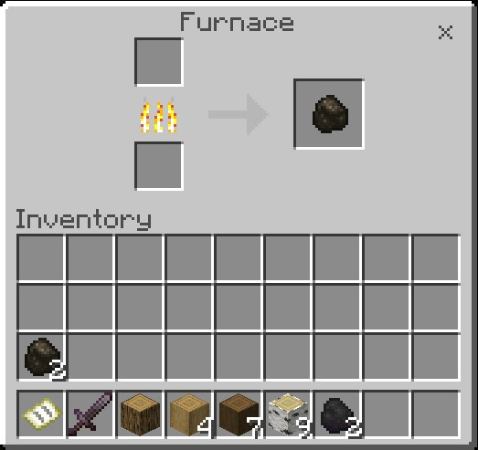 How To Make Charcoal In Minecraft Charcoal Will Appear In The Right