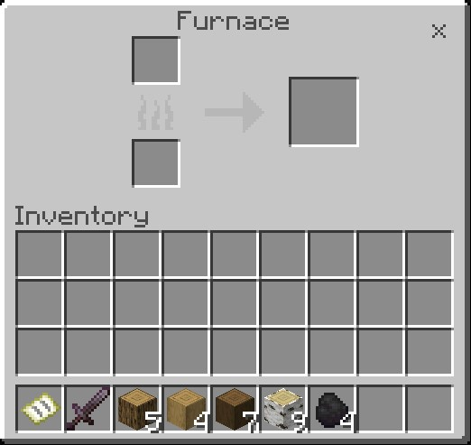 How To Make Charcoal In Minecraft Open Furnace