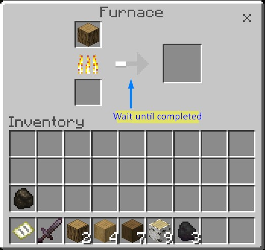 How To Make Charcoal In Minecraft Wood Will Burn And Wait A Second
