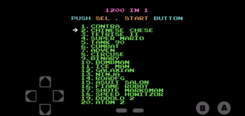 Nes Emulator 1200 In 1