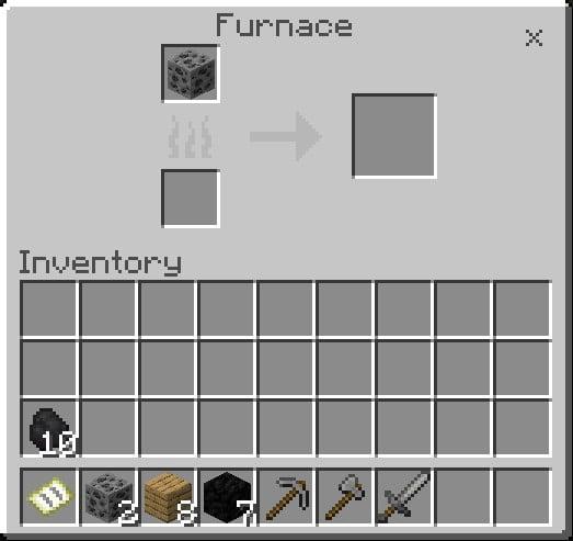 Put A Coal Ore In The Top Box Of Furnace