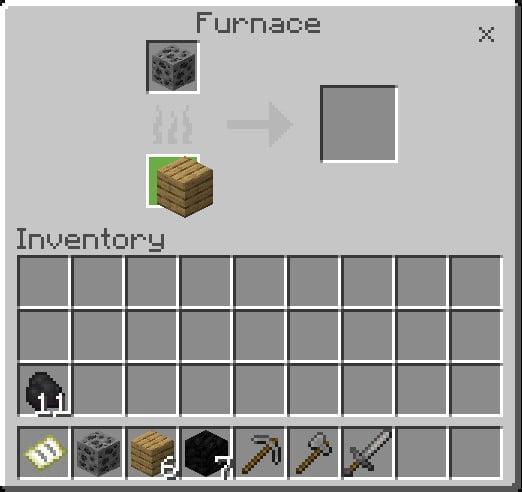 Put A Wood Slab On The Bottom Box Of A Furnace